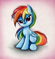 My Little Pony - Rainbow Dash - Element Of Loyalty - Brave.