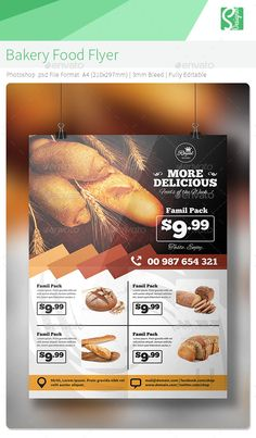 Bakery Food Flyer Template PSD | Buy and Download: http://graphicriver.net/item/bakery-food-flyer-/8931956?WT.ac=category_thumb&WT.z_author=S-Designer&ref=ksioks