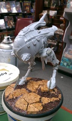Warmachine Retribution Battle Engine modified to look like an Imperial AT-ST.