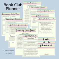 Book Club Guide The Ultimate Book Club Planner designed to make your book club lively & connected. Created by a librarian who gets how book clubs work. Share the pages with club members and discussion leaders, so their planning is easy! Book Club Recommendations, Book Club List, Book Club Reads, Book Club Books, Books To Read, Book Clubs, Online Book Club, Books Online, Book Club Questions
