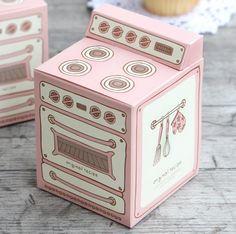 5 x Retro oven boxes / Pink retro oven box / por Twomysterybox
