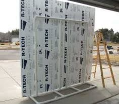 Image result for light weight movable theatrical wall sets or design wall...would want the insulation boards on both sides for a reversible wall, but would need casters or other way to easily turn it.