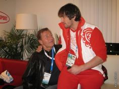 Alex Ovechkin with Sergei Fedorov's dad.