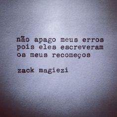 Sobre erros e recomeços  #estranheirismo @zackmagiezi fb.com/avidaquer  #agentenaoquersocomida #avidaquer @avidaquer por @samegui