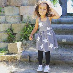 Toddler Girl Fashion Star dress Star Fashion, Kids Fashion, Toddler Girl Style, Kids Z, Fashion Blogger Style, Stylish Kids, Dressing, Summer Dresses, Instagram Posts