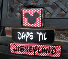 Personalized Disney Countdown blocks-chalkboard. $12.00, via Etsy., be so cute to do one for every vacation