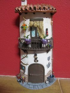 Fairy Tree Houses, Clay Fairy House, Fairy Garden Houses, Ceramic Houses, Clay Houses, Diy And Crafts, Arts And Crafts, Clay Flower Pots, Birthday Calender