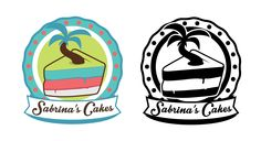 Sabrina's Cake Logo Brand - Color and BW