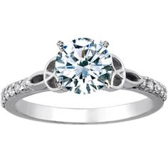 I may not be engaged but I'm in love with the band on this ring. The celtic knot steals my heart...only thing that would make it perfect is a halo setting ;)