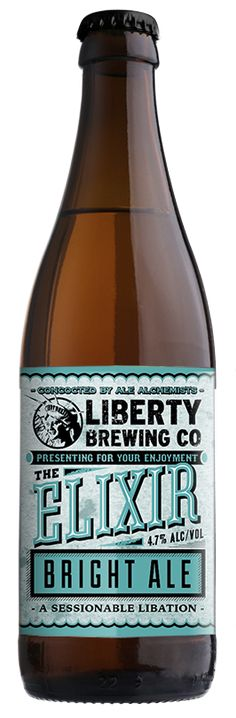 Presenting for your enjoyment a sessionable libation concocted by ale alchemists liberty brewing co.