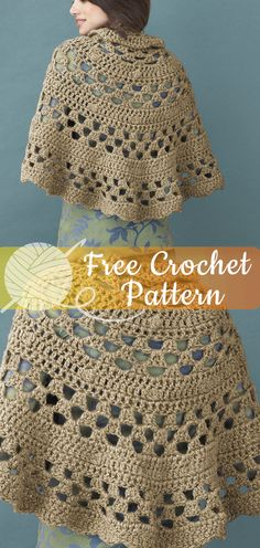 Half Moon Shawl [CROCHET FREE PATTERNS]