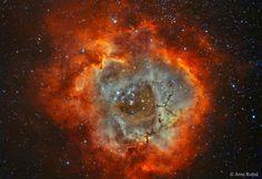 The Rosette Nebula in Hydrogen and Oxygen. via reddit [[MORE]] Description