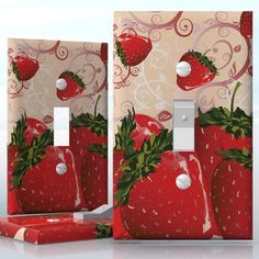 Diy Do It Yourself Home Decor Easy To Apply Wall Plate Wraps Strawberry Delight