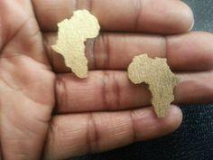 Africa Earrings  Africa Shape Earrings by AHoleyMoleyLyfe on Etsy