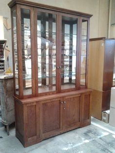 We specialise in creating and installing custom made built in furniture for home interiors. Built In Furniture, Industrial Furniture, Furniture Design, Wood Slat Wall, Wood Slats, Make Build, Built In Bookcase, China Cabinet, Building