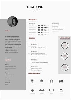 It's a resume 이력서 简历. i really like simple stuff so that's it. Hope this will help y'all guys out. Graphic Design Resume, Letterhead Design, Resume Design Template, Cv Template, Graph Design, Cv Design, Portfolio Layout, Portfolio Design, Architectural Cv