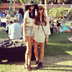 Coachella, Chanel Iman, street style, hippie chic