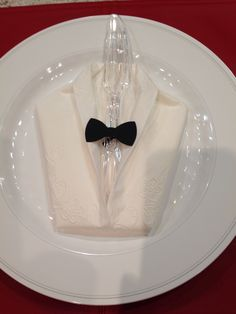 TUXEDO NAPKINS made for 1940s Hollywood theme party.