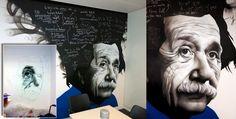 Albert Ainstein Graffiti Mural