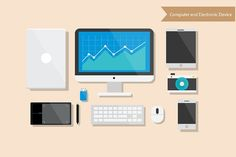 Computer and Electronic Device Illustrations #icons #infographics #business