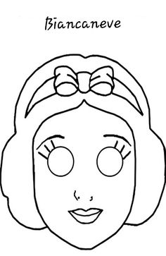 Snow white mask to print Patchwork Disney, Disney Quilt, Mardi Gras, Coloring Sheets, Coloring Pages, Castle Crafts, Fairy Tale Activities, Quiet Book Templates, Kids Activity Books