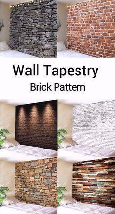 brick wall tapestry