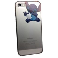 iPhone 5 Lovely Disney Cartoon Lilo and Stitch Eating/ Grabbing Apple logo Cute Clear Case Cover for Iphone 5 and Xmas Gift for Phones & Accessories Iphone Cases Disney, Iphone 5c Cases, Cute Phone Cases, Iphone 6, Apple Iphone, Lilo En Stitch, Illustration Vector, Cool Cases, Apple Logo