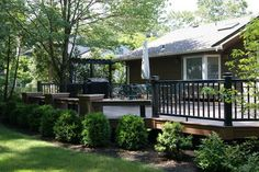 Big deck and hard scape - traditional - deck - new york - Deck Remodelers.com