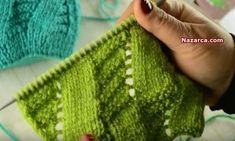 HARAŞO ÖRNEĞİ İLE YÜZÜK ÖRGÜ MODELİ NASIL YAPILIR | Nazarca.com Fingerless Gloves, Arm Warmers, Crochet Projects, Knitting Patterns, Embroidery, Blanket, Fashion, Dots, Tejidos