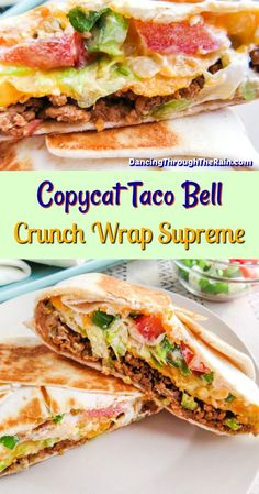 Wrap Recipes, Beef Recipes, Dinner Recipes, Cooking Recipes, Taco Bell Recipes, Lunch Recipes, Good Healthy Recipes, Healthy Foods To Eat, Healthy Eating
