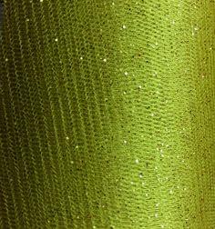 "Glitter Tulle in ""Avocado"" $2.95/yd 58"" wide #tulle #glittertulle #apparel #textilediscount"