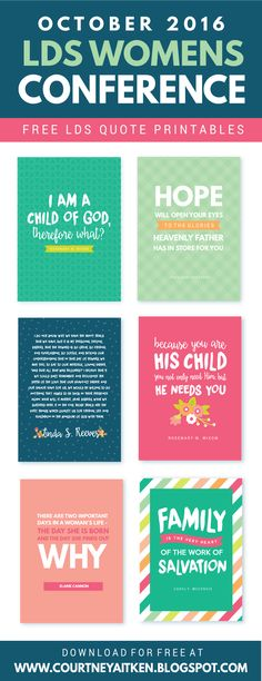 LDS Womens Conference FREE Printables