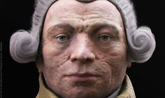 Facial reconstruction of Maximilien Robespierre from Madame Tussaud's death mask.