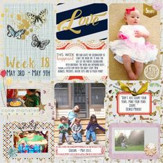 Week 18 Left Side - Project Life pocket style digital scrapbook layout featuring the Be Bold Collab Kit at Pixel Scrapper