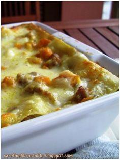 Lasagne di stagione. Da provare assolutamente! - Ricetta Portata principale : Lasagne con zucca e salsiccia da Claudia carotina