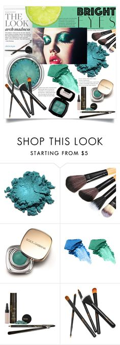 """""""Bright eyes"""" by emilijaqw ❤ liked on Polyvore featuring beauty, Dolce&Gabbana, NARS Cosmetics, NYX, INIKA and brighteyes"""