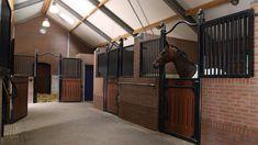 ... Barn Stalls, Horse Stalls, Dream Stables, Dream Barn, Luxury Horse Barns, Equestrian Stables, Barn Layout, Horse Barn Designs, Horse Barn Plans