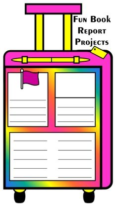 Vacation Suitcase Book Report Projects For Main Characters:  templates, printable worksheets, and grading rubric