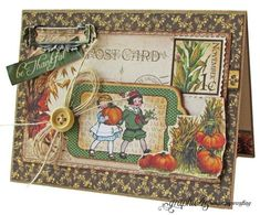"""Graphic 45 Presents a November Place in Time """"Be Thankful"""" Card"""