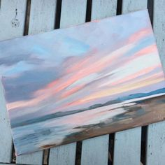 Sunset at Exmouth by artist Vicki Hutchins