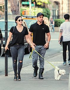 Demi Lovato and Wilmer Valderrama out in NYC - May 12, 2015