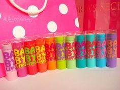 Baby lips are the best. Better than Chapstick. I put them on chapped lips at night and in the morning my lips are healed and so soft. Baby Lips Collection, Makeup Collection, Love Makeup, Beauty Makeup, Kids Makeup, Makeup Ideas, Baby Lips Maybelline, Eos Lip Balm, Lip Balms
