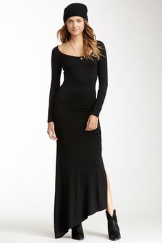 Go Couture Asymmetrical Long Sleeve Maxi Dress by Non Specific on @HauteLook