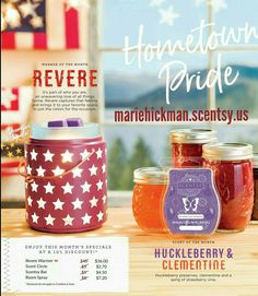 June warmer and scent of the month! Revere and Huckleberry Clementine! #scentsy