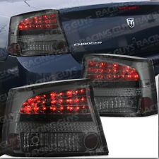 05-08 DODGE CHARGER SMOKE LED TAIL LIGHT R/T SRT8 LAMPS HOUSING PAIR LEFT RIGHT