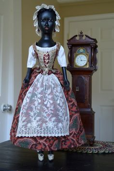Art Dolls Historically Inspired Rough Luxe: Absolutely gorgeous skin and face: arms too short though. Victorian Paper Dolls, Vintage Paper Dolls, Antique Dolls, Victorian Dollhouse, Modern Dollhouse, Dolly Doll, Black Baby Dolls, African American Dolls, Wooden Dolls