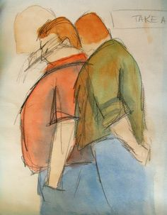 Image result for male figure standing looking down drawing
