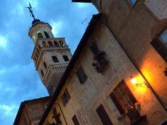 Saluzzo - Centro storico . Torre civica