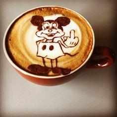 Mickey says f#*k you! Instagram @yartynscott