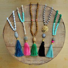 DIY Beaded Tassel Necklaces